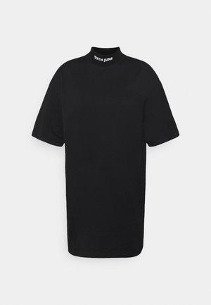 HIGH NECK DRESS - Jersey dress - black
