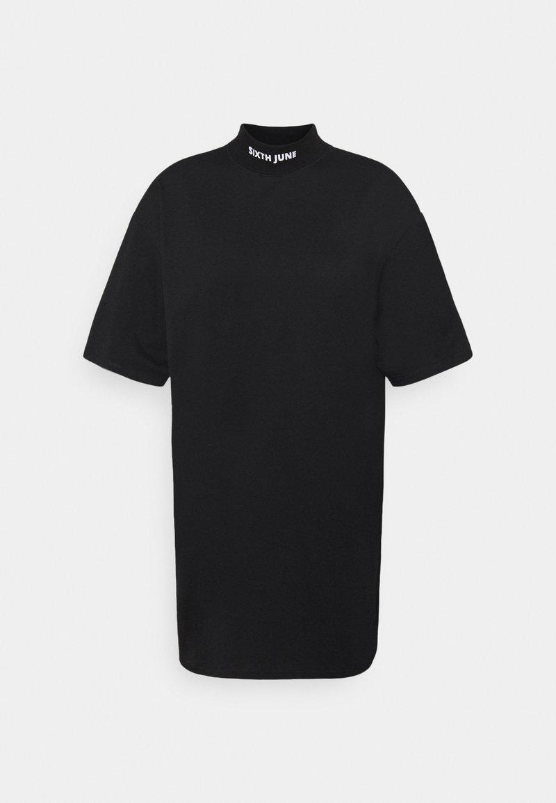 Sixth June - HIGH NECK DRESS - Žerzejové šaty - black