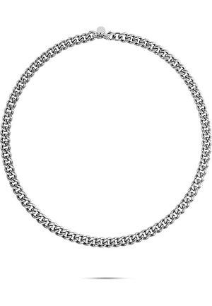 FAVS. HERREN-KETTE EDELSTAHL - Necklace - silber