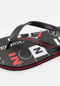 Armani Exchange - T-bar sandals - white/black/red - 5
