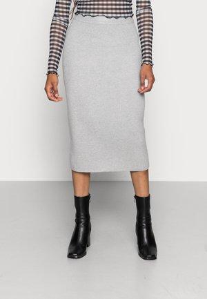 AVA KNITTED SKIRT - Falda de tubo - grey melange