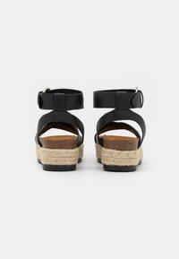 ONLY SHOES - ONLMAUVE WRAP  - Korkeakorkoiset sandaalit - black - 3