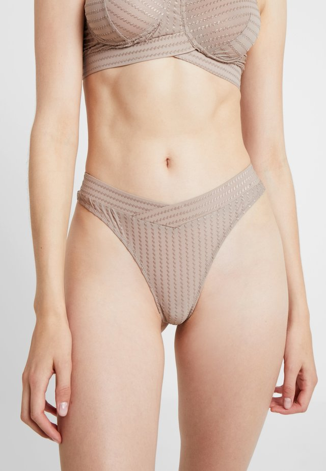 ZIGGY THONG - Thong - warm taupe