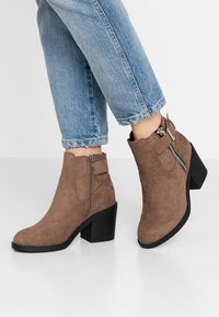 Even&Odd Wide Fit - Ankle boot - taupe - 0