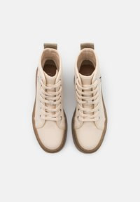 ONLY SHOES - ONLPHOBE LACE UP BOOT  - Platform ankle boots - offwhite - 5