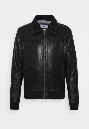 KEATON - Leather jacket - black
