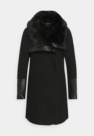 ELLERY FUR COLLAR BIKER   - Classic coat - black