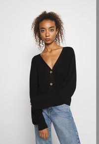 Monki - ZETA CARDIGAN - Cardigan - black - 0