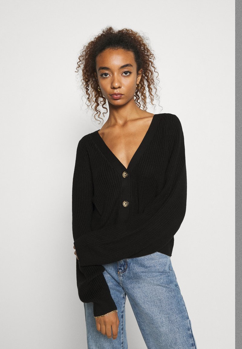 Monki - ZETA CARDIGAN - Cardigan - black