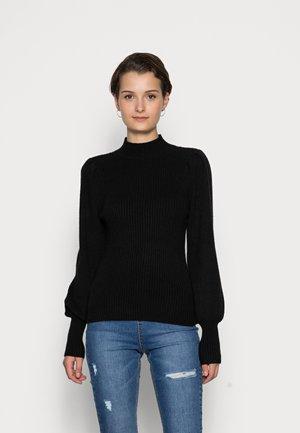 ONLKATIA HIGHNECK - Stickad tröja - black