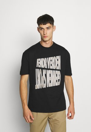 GRAPHIC UNISEX - Print T-shirt - black