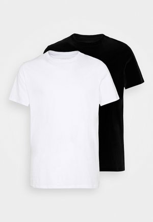 2 PACK  - T-shirts basic - white/black