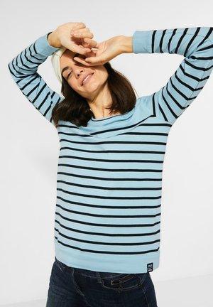 MIT STREIFEN - Long sleeved top - blau