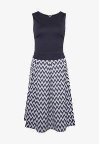 Anna Field - Jersey dress - white/maritime blue - 4