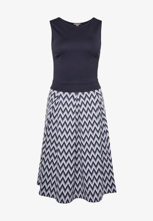 Jersey dress - white/maritime blue