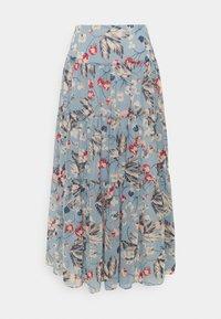 Lauren Ralph Lauren - POLY CRINKLE  - A-line skirt - blue multi - 0