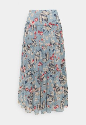 POLY CRINKLE  - A-line skirt - blue multi