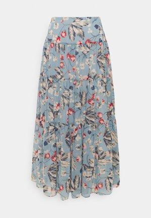 POLY CRINKLE  - Áčková sukně - blue multi