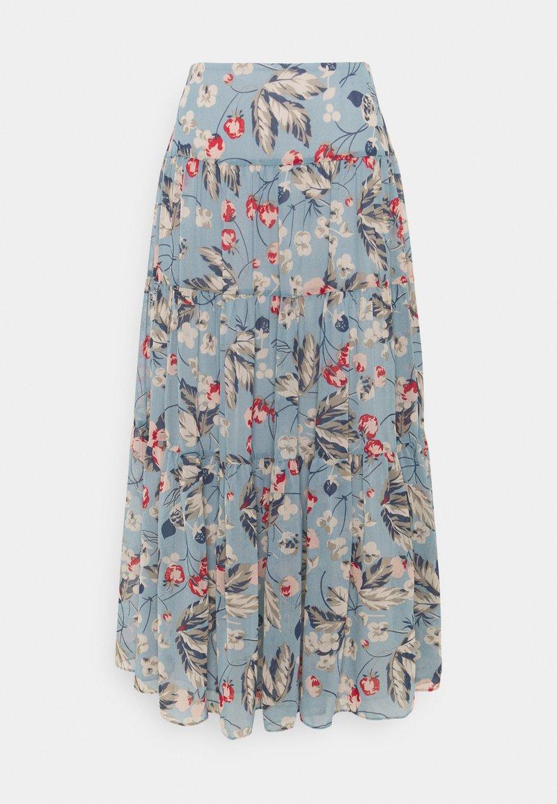 Lauren Ralph Lauren - POLY CRINKLE  - A-line skirt - blue multi