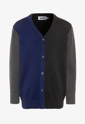 BASEL - Cardigan - mottled grey/multicolor