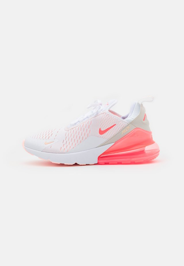 AIR MAX 270 - Sneakers - white/bright mango/crimson tint