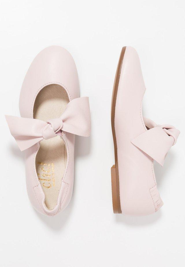 Ankle strap ballet pumps - oslo pink