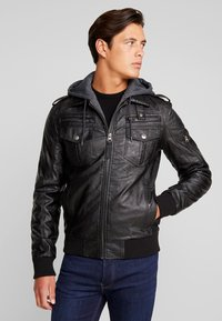 INDICODE JEANS - ULLE - Faux leather jacket - black - 0