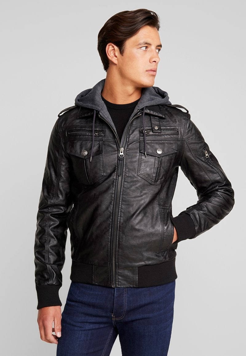 INDICODE JEANS - ULLE - Faux leather jacket - black