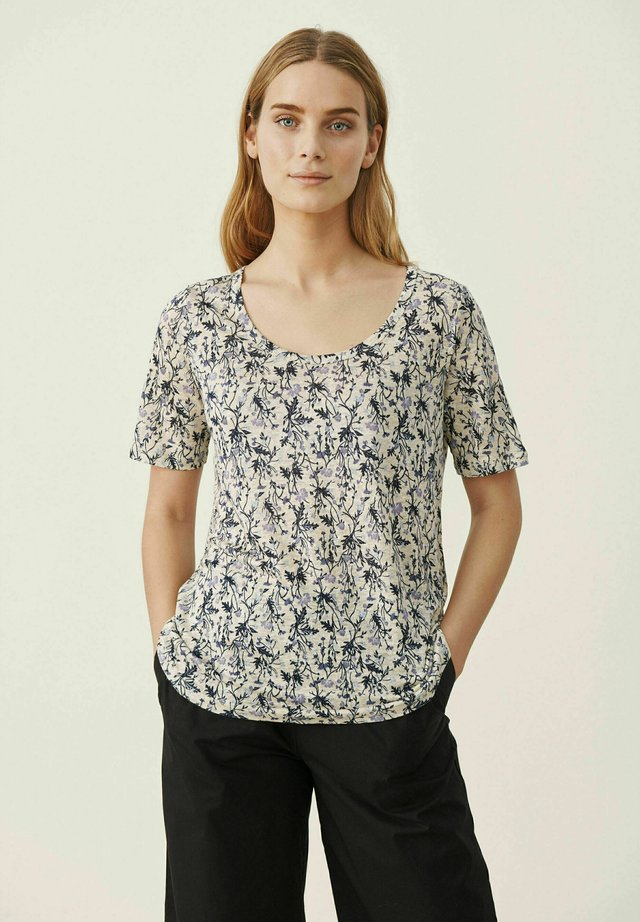 Camiseta estampada - blue botanical print