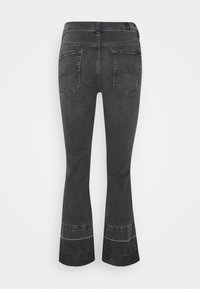 7 for all mankind - CROPPED UNROLLED ILLUSION EPIC - Bootcut jeans - black - 1