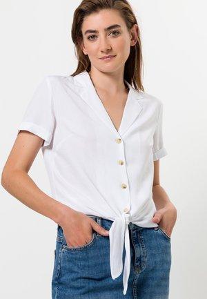 MIT KNOTENDETAIL - Button-down blouse - white