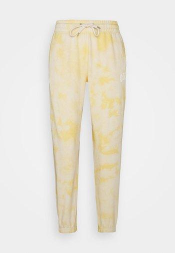 EASY - Trainingsbroek - yellow tie dye