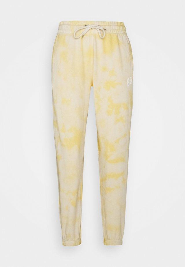 EASY - Pantalon de survêtement - yellow tie dye