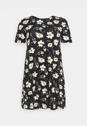 CARBANDANA DRESS - Žerzejové šaty - black/yellow