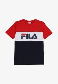 Fila - DAY BLOCKED TEE - Camiseta estampada - black iris/true red/bright white - 2