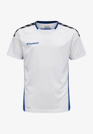Print T-shirt - white/true blue