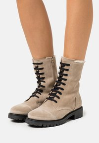 Anna Field - LEATHER - Lace-up ankle boots - beige - 0