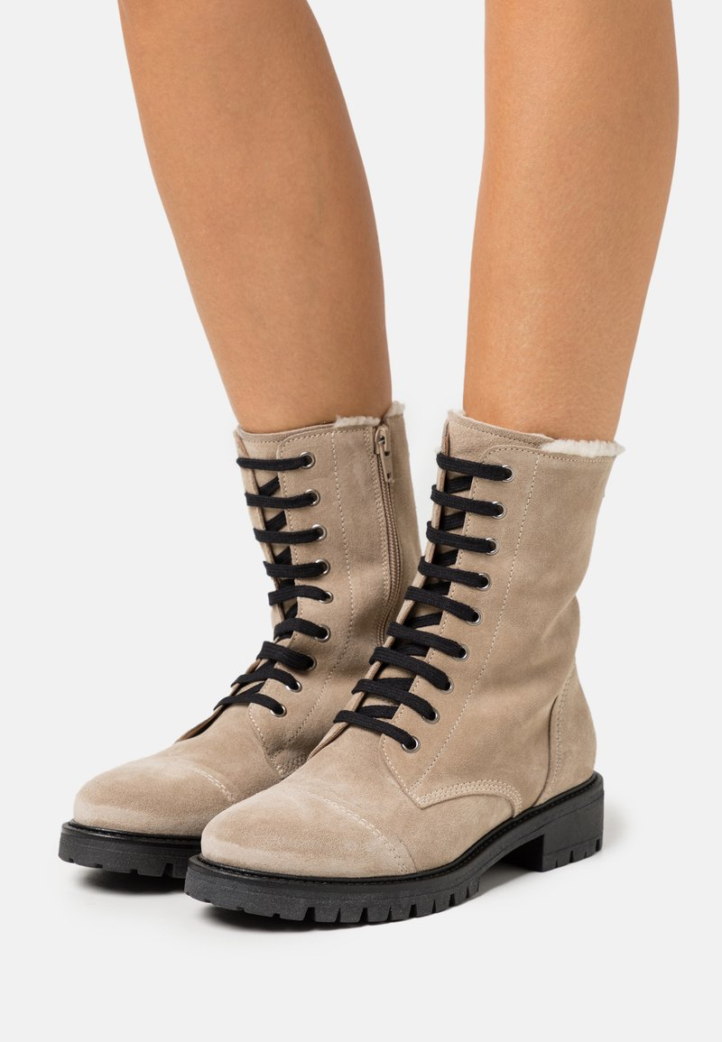 Anna Field - LEATHER - Lace-up ankle boots - beige