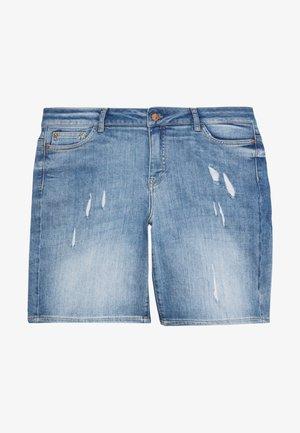 JRFIVE ADIA SHORTS - Farkkushortsit - medium blue denim