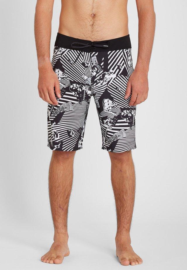 MOD LIDO PRNT 20 - Shorts da mare - black