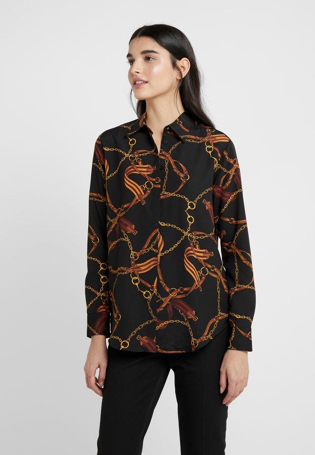 Button-down blouse - black/multi
