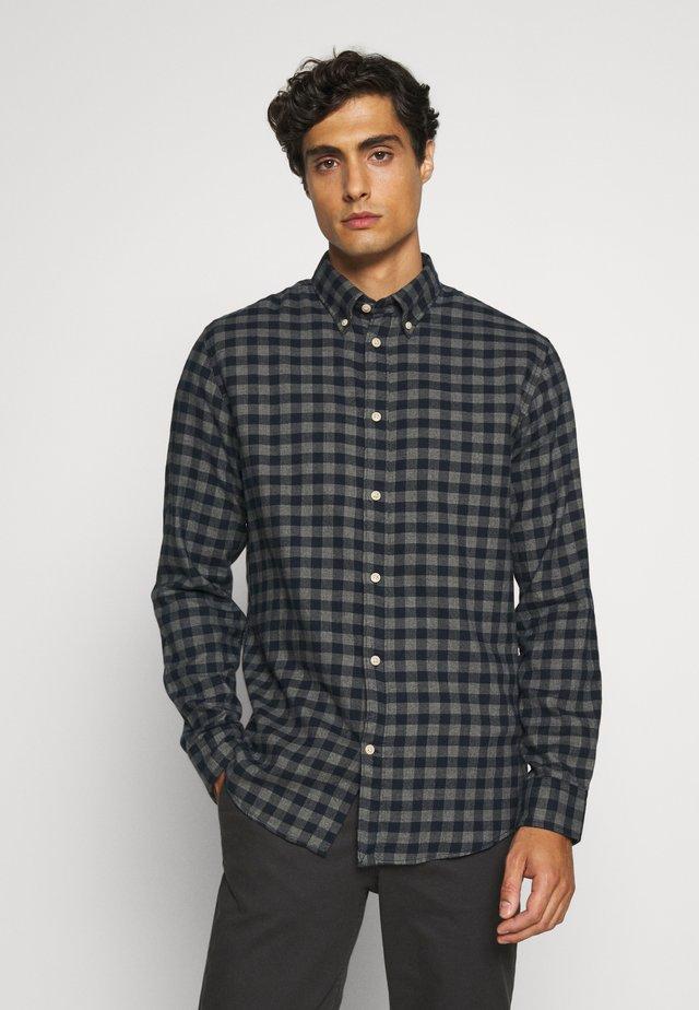 SLHSLIMFLANNEL SHIRT - Skjorter - dark blue