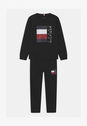 GLOBAL STRIPE CREW SET - Tracksuit - black
