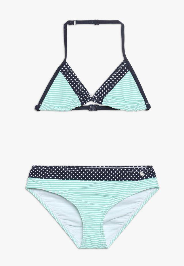 TRIANGLE SET - Bikini - marine/türkis