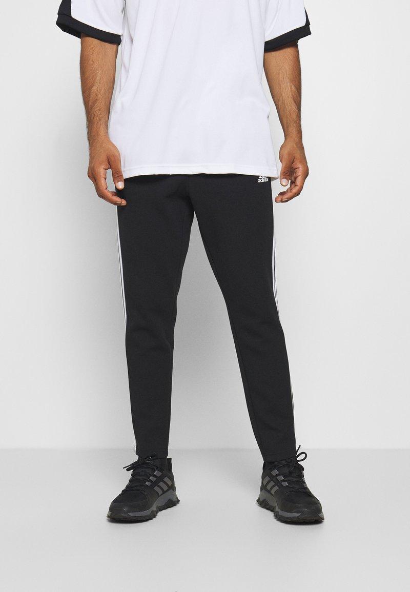 adidas Performance - STRIPES MUST HAVES SPORTS REGULAR PANTS - Verryttelyhousut - black