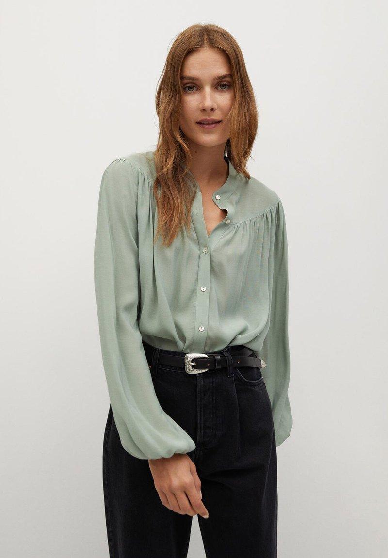 Mango - MINT - Button-down blouse - vert pastel