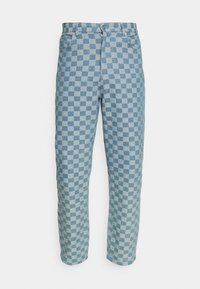 Vintage Supply - CHECKERBOARD WIDE LEG - Relaxed fit jeans - blue - 4