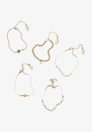 5 PACK - Bracelet - gold