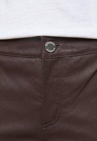 2nd Day - LEYA - Kožené kalhoty - chocolate plum - 3