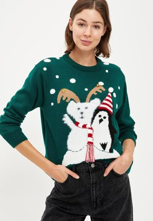CHRISTMAS JUMPER - Jumper - green
